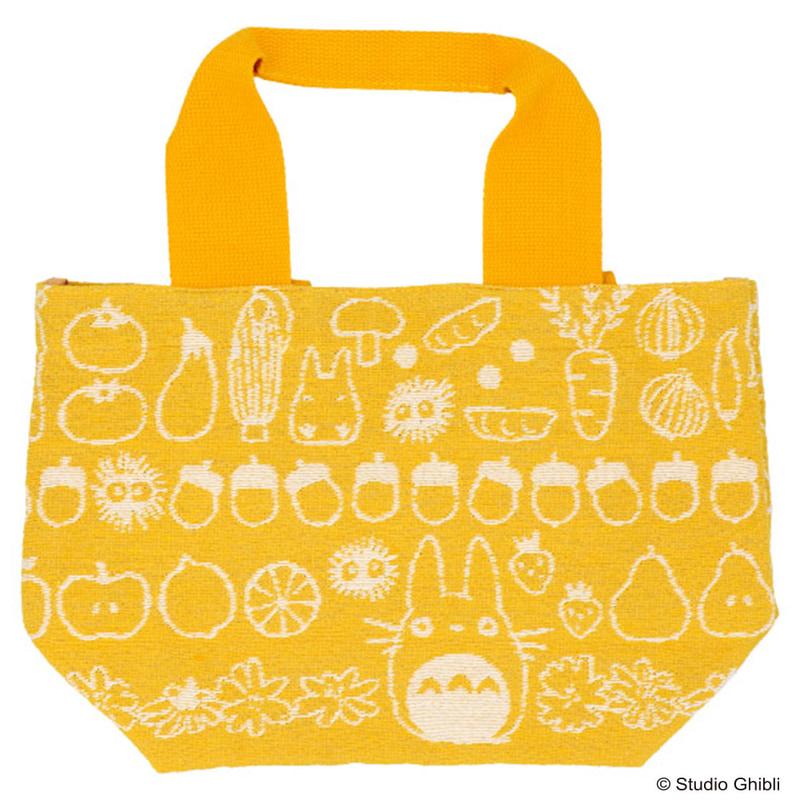 「ランチバッグ」野菜とトトロたちがデザインされたランチバッグ
