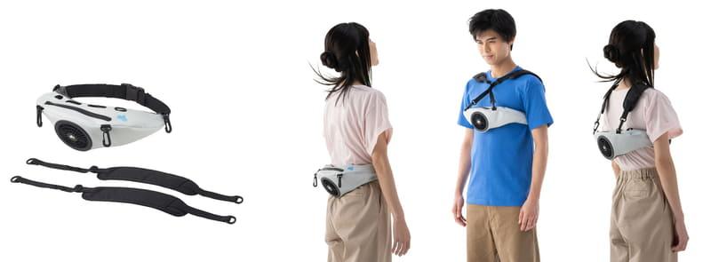 取り外し可能なチェストベルトで、さまざまな装着方法
