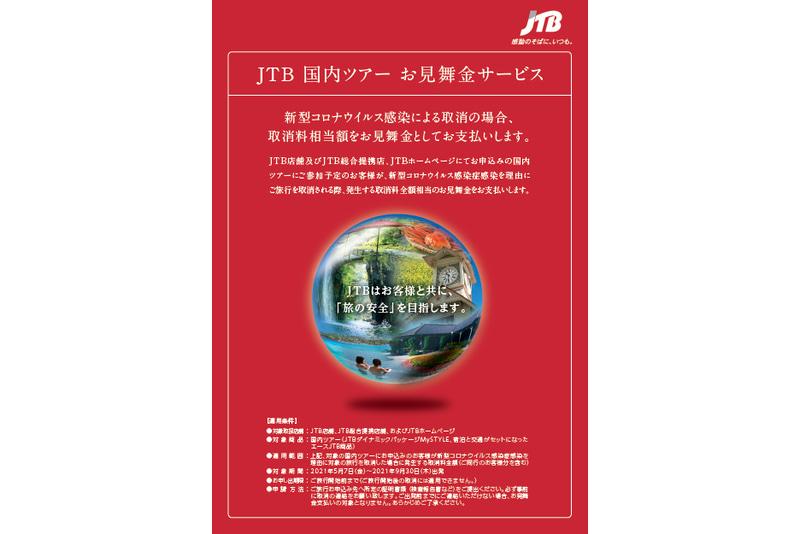 JTB国内ツアーお見舞金サービス