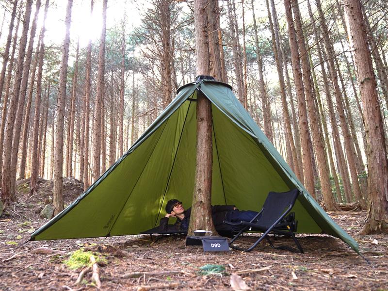 「木と一緒に眠る」体験ができる