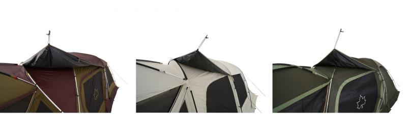 取り付けはシートに付いているフックをテント本体にかけるだけ