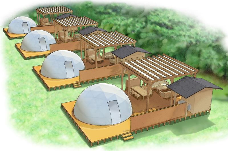 「サントピア岡山総社」にグランピング施設が開業する