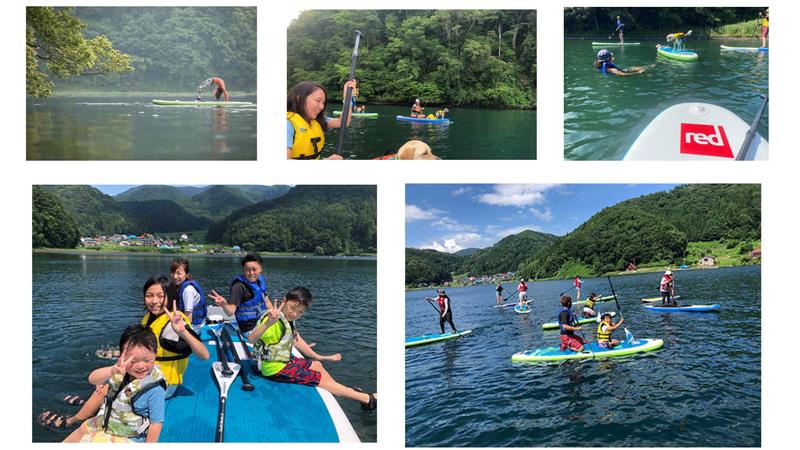 野尻湖SUP体験のイメージ