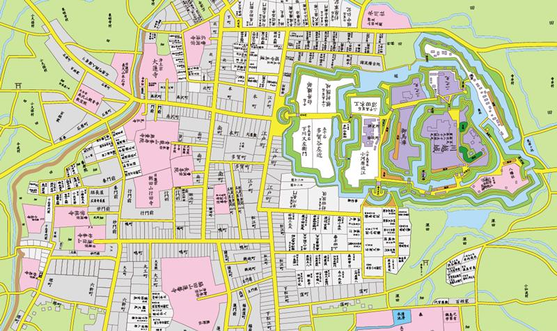 古地図アプリ「大江戸今昔めぐり」が川越市と静岡市にエリアを拡大する