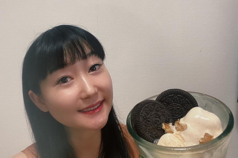 ドゥルセデレチェ(キャラメルジャム)とオレオのアイスクリーム