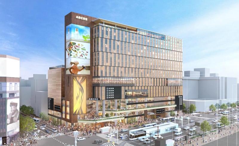 ススキノラフィラ跡地に計画中の複合施設「(仮称)札幌すすきの駅前複合開発計画」着工