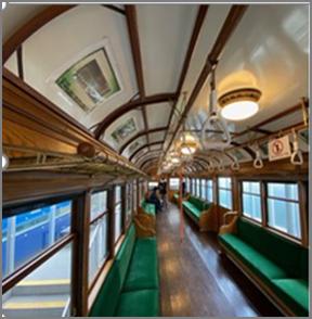 電車とバスの博物館B棟にある「キッズワールド モハ510形」