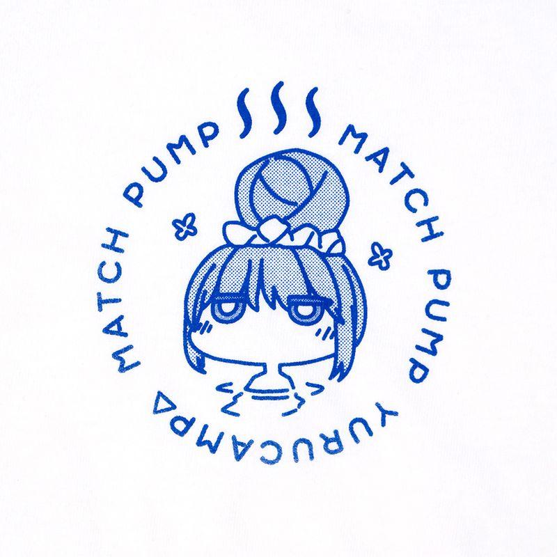 リンの名言「MATCH PUMP」を温泉マーク風にデザイン