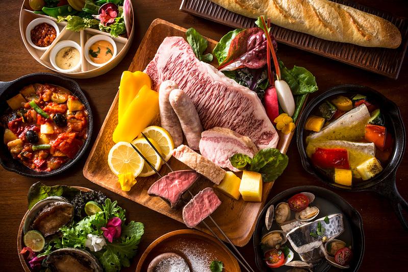 BBQでは地元の食材を使用した料理を提供