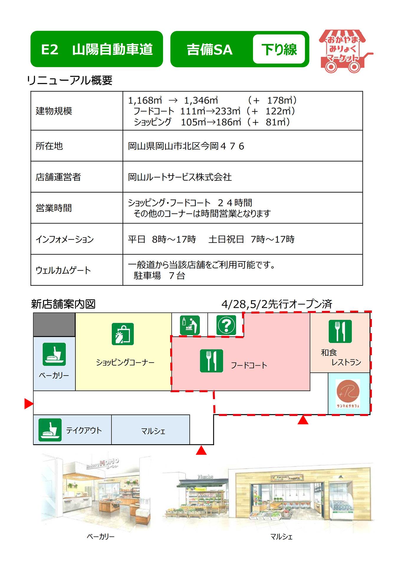 リニューアル概要と館内図