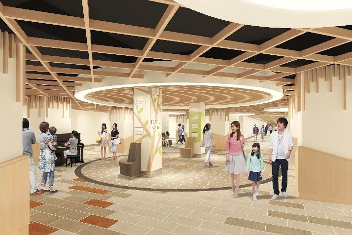 新開地駅~高速神戸駅間の連絡地下通路「メトロこうべ中間通路」の美装化工事に着手
