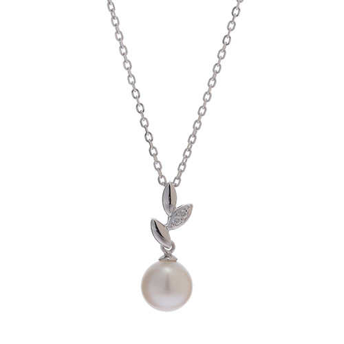 オッコ真珠 アコヤ真珠 ダイヤモンド ネックレス(1万2000円)