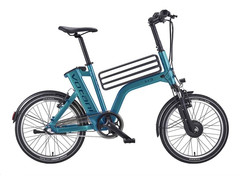 コンパクト電動アシスト自転車「Votani by BESV」に新色を設定。画像は「H3 メタリックグリーン」