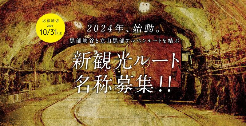 富山県は黒部ダム~黒部峡谷・欅平を結ぶ「黒部ルート」の名称案を募集する