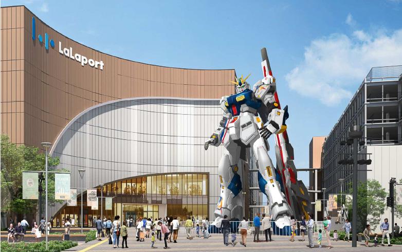 ららぽーと福岡に「実物大νガンダム」が設置される