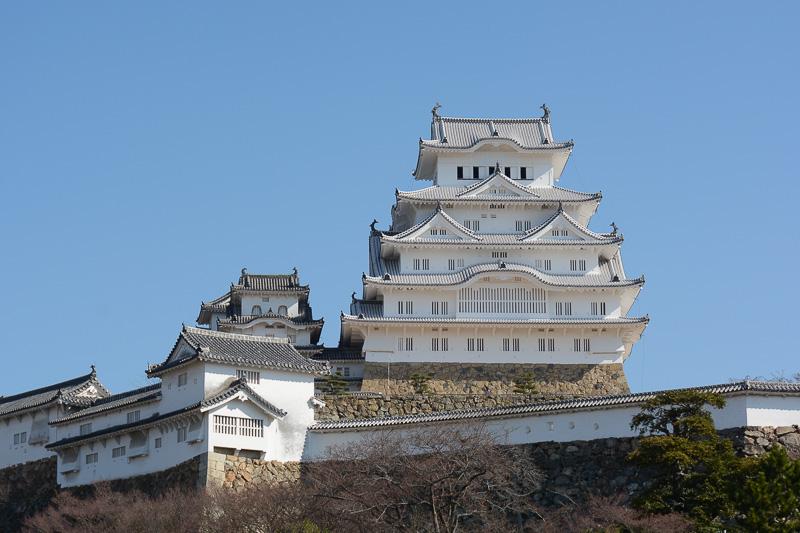 大天守の修理が完成した姫路城
