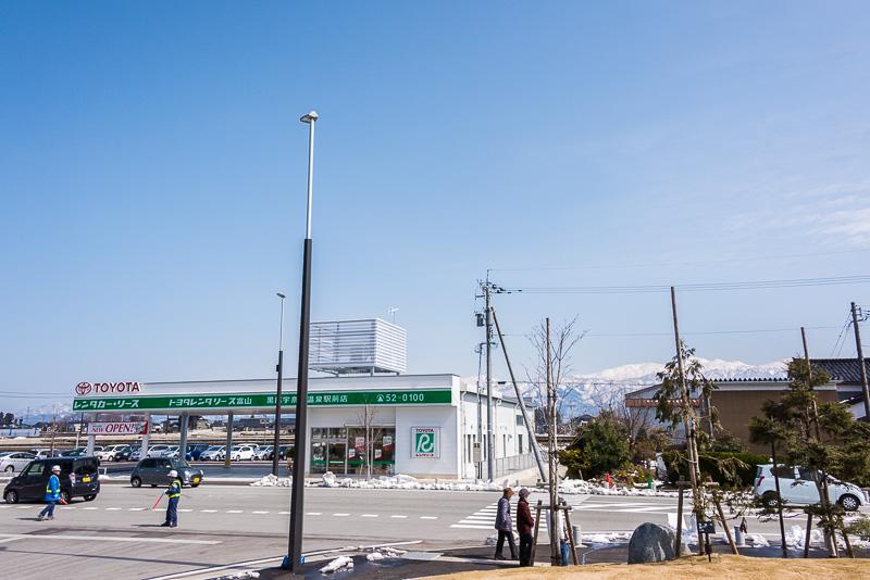 「黒部宇奈月温泉駅」東口にあるトヨタレンタカー