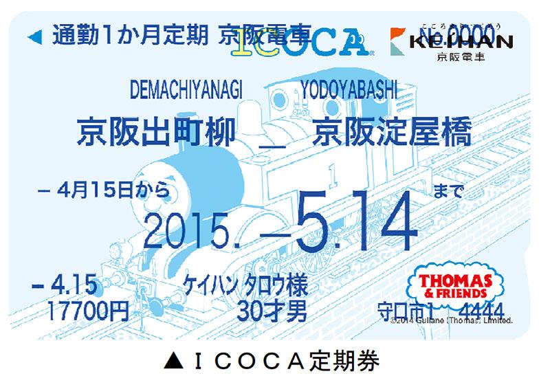 「ICOCA定期券」の表記