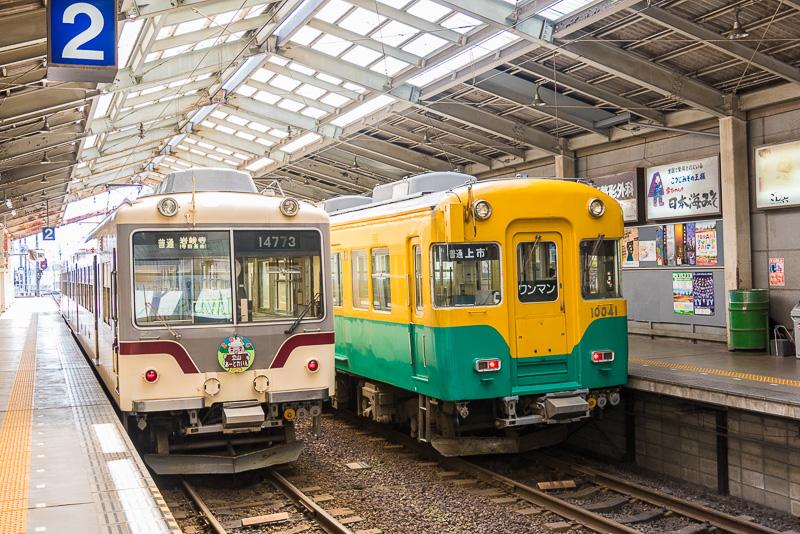 富山地方鉄道の始発駅である「電鉄富山駅」が「ESTA」内に入っている