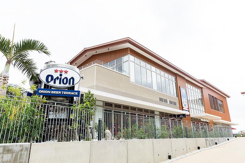オリオンビール関連のレストラン4施設が入る「オリオンビアテラス」(Village A)。Rycom Villageの施設