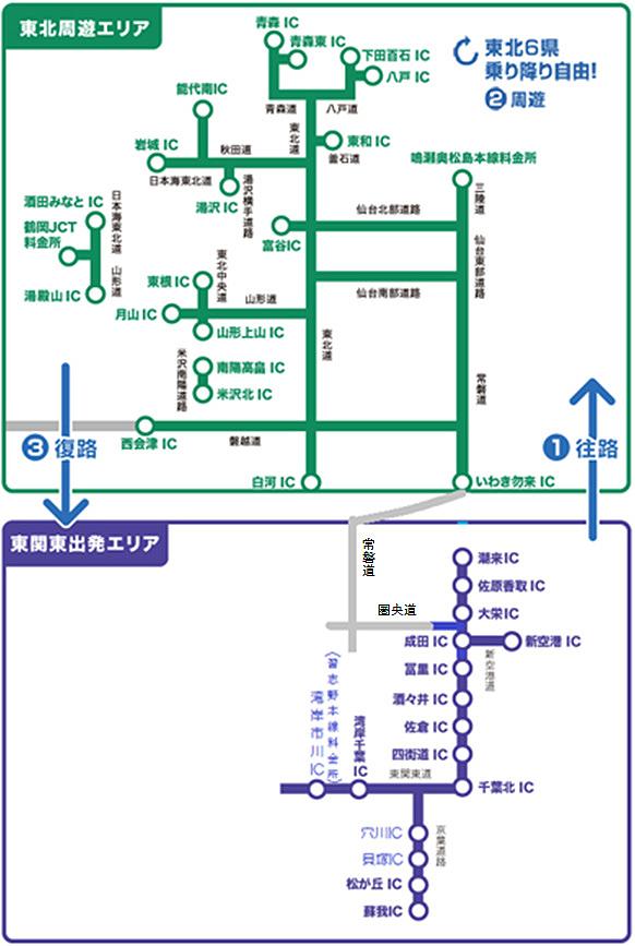 「東関東出発プラン」の対象エリア