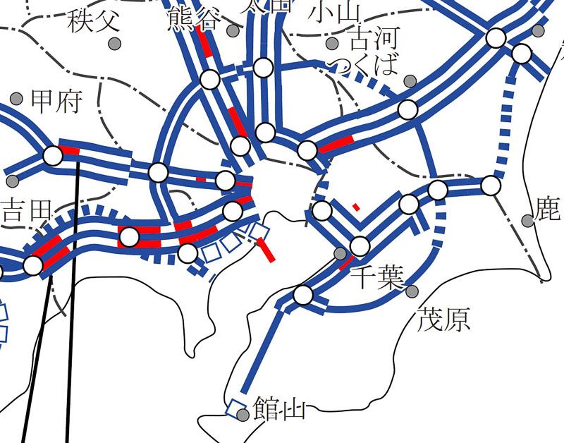 東名高速道路(上り)横浜町田IC(インターチェンジ)~海老名JCT(ジャンクション)が渋滞ワースト1位に