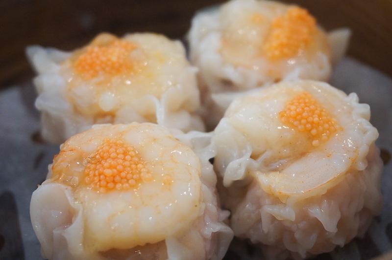 そして次に出てきたのは蝦シューマイ、蝦がプリプリで美味しかった