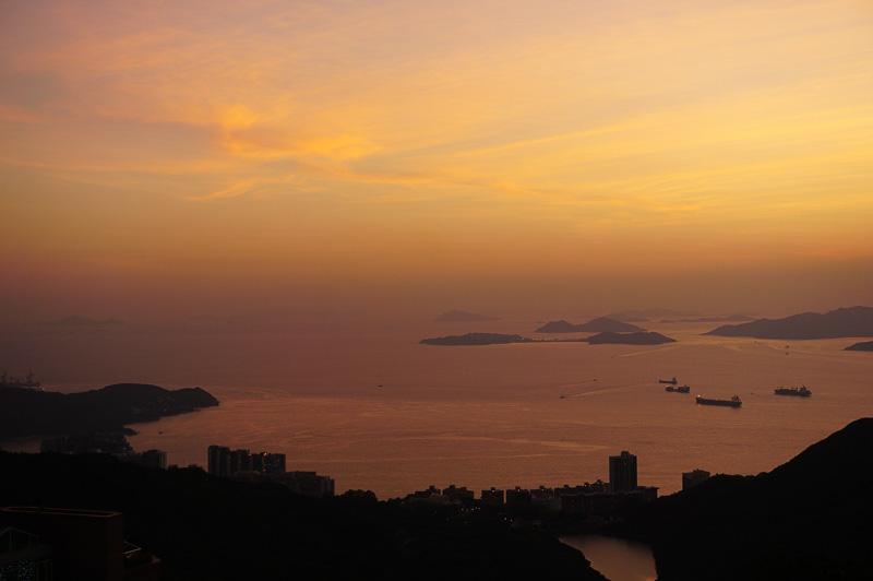 太平洋側の美しい夕焼け。夕暮れの時に行くと夕焼けが美しい