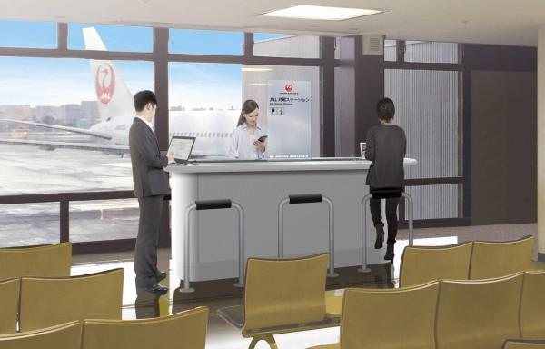 「JAL充電ステーション」の設置イメージ