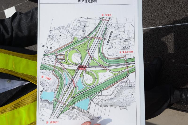 圏央道延伸後の大栄JCTの形
