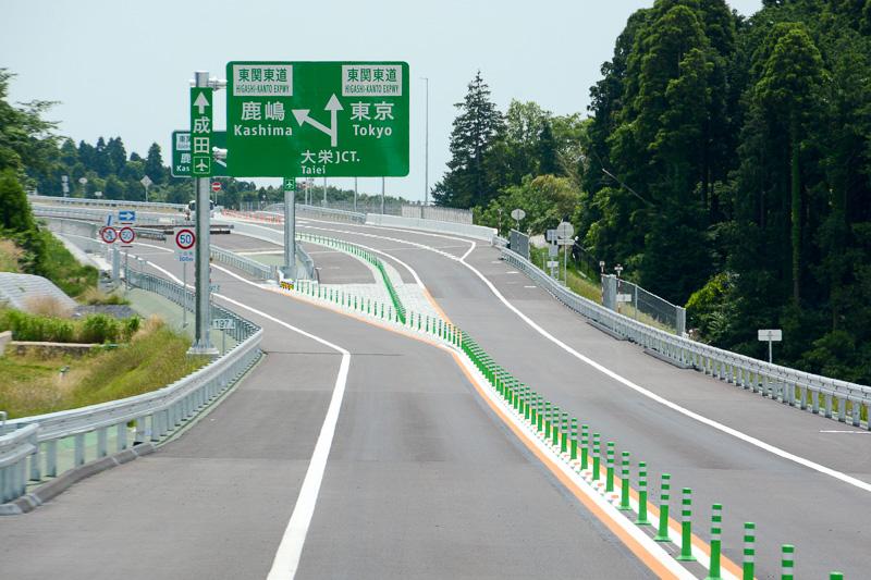 圏央道 下総IC方面から大栄JCTへのアプローチ