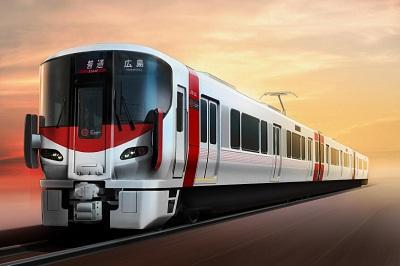 2015年3月14日のダイヤ改正から広島地区に投入した227系「Red Wing」