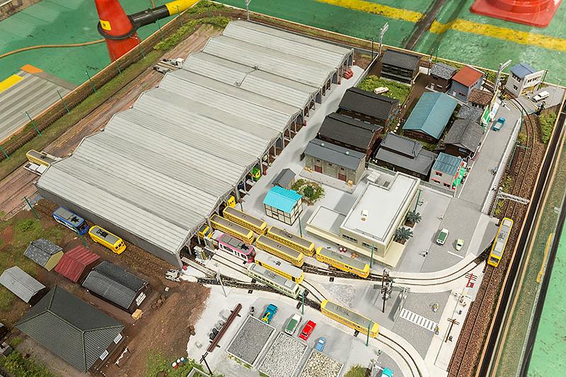 職員のOBが製作した荒川車庫をイメージしたNゲージスケールのレイアウト