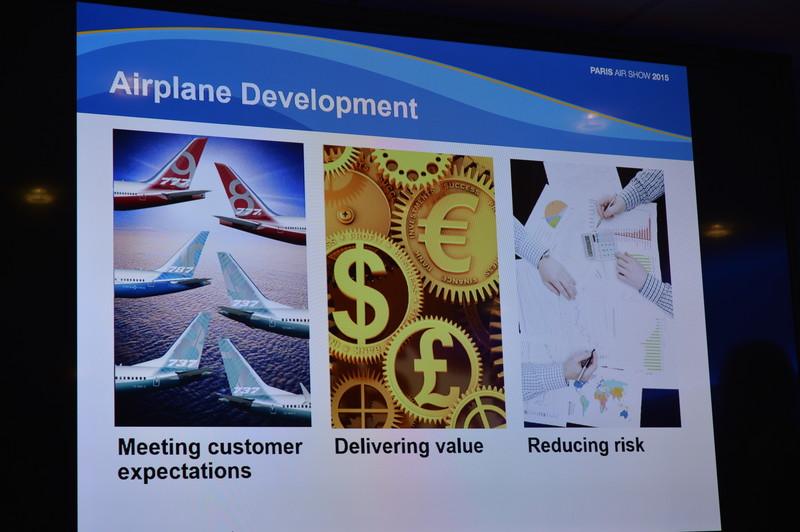 ボーイング航空機開発担当副社長Scott Fancher氏による開発中の航空機の進捗状況についての会見