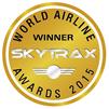 英国SKYTRAX社による「2015年ワールド・エアライン・アワード」の受賞ロゴ