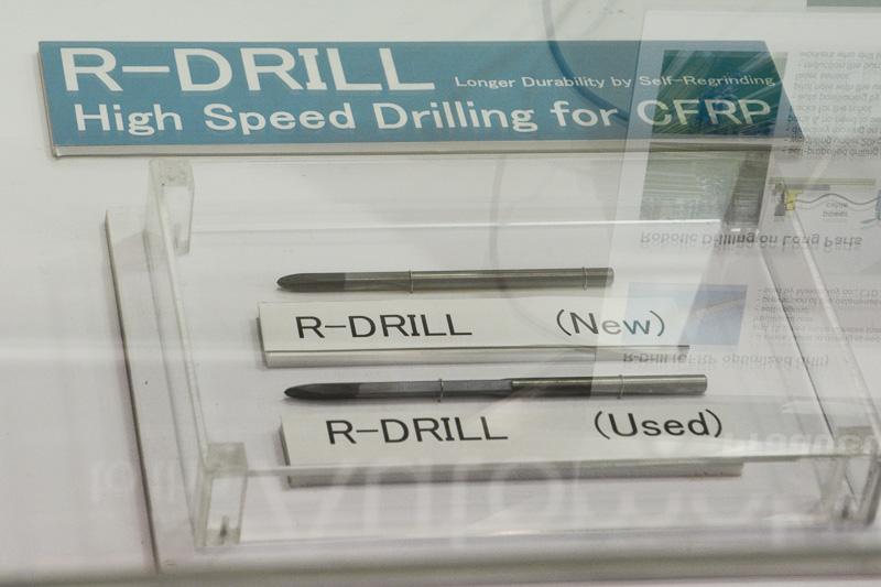 R-Drillと呼ばれるCFRP向けのドリルピット