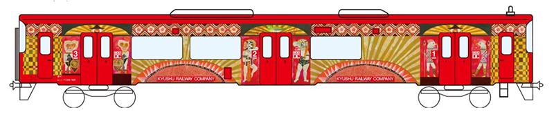 キハ220形をラッピングした冒険列車「ブンゴヤージュ号」