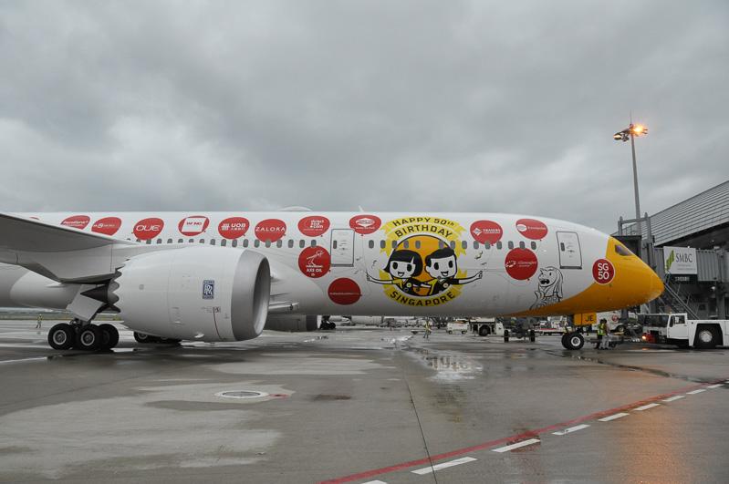 胴体前方が787-8に比べ、約6.1m延長された787-9