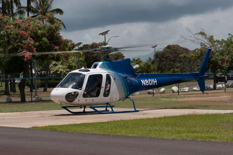 Island Helicoptersのヘリコプター