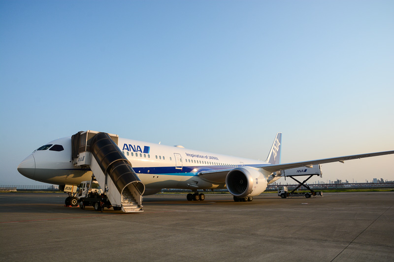 ANAのボーイング 787-9型機