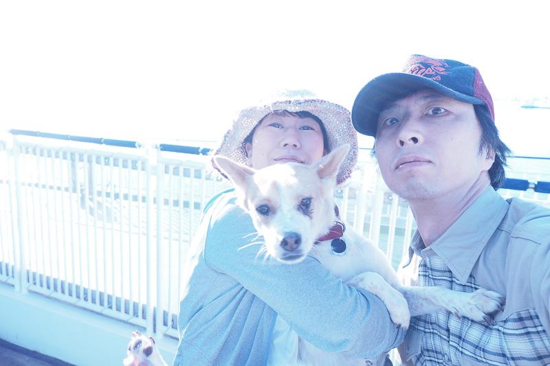 すっかり忘れていた家族の記念撮影。これから北海道に上陸します! と、記念にパチリ