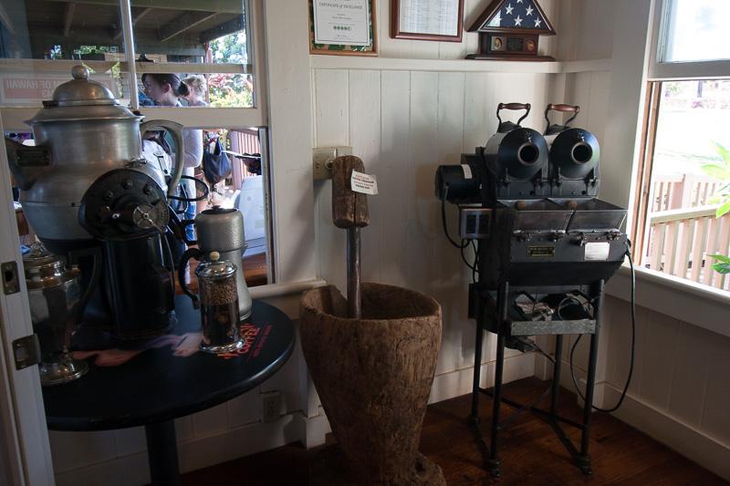 ミュージアムも併設。かつての焙煎機器が展示されていた