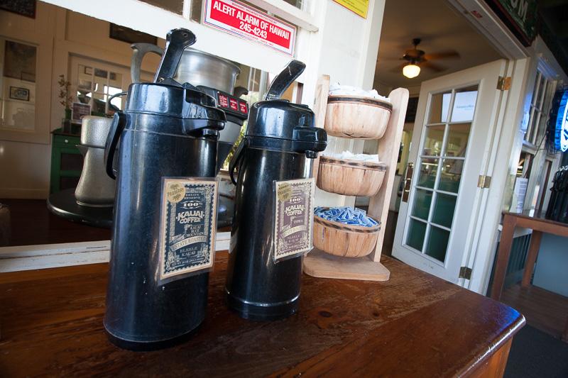 手前のポットが抜群に美味しかった「100% Kauai Coffee Kauai Blue Mountain Estate Roasted」
