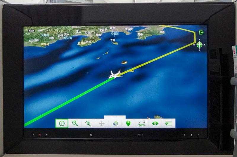 3D表示のフライトマップ