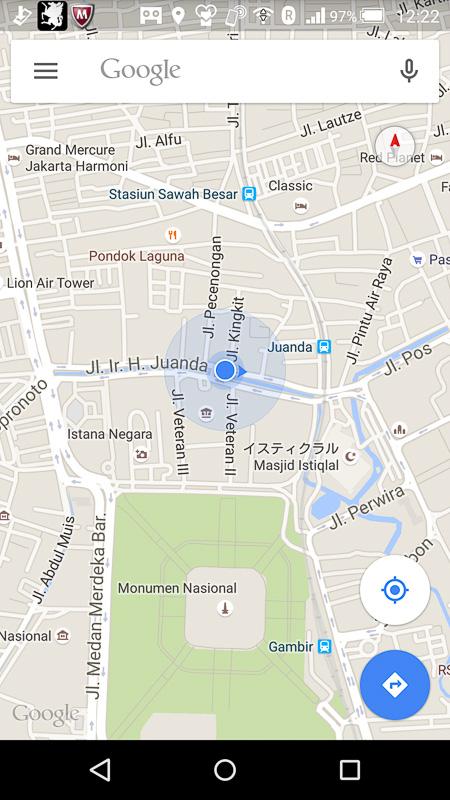 Googleマップでジャカルタの観光ルートを検討