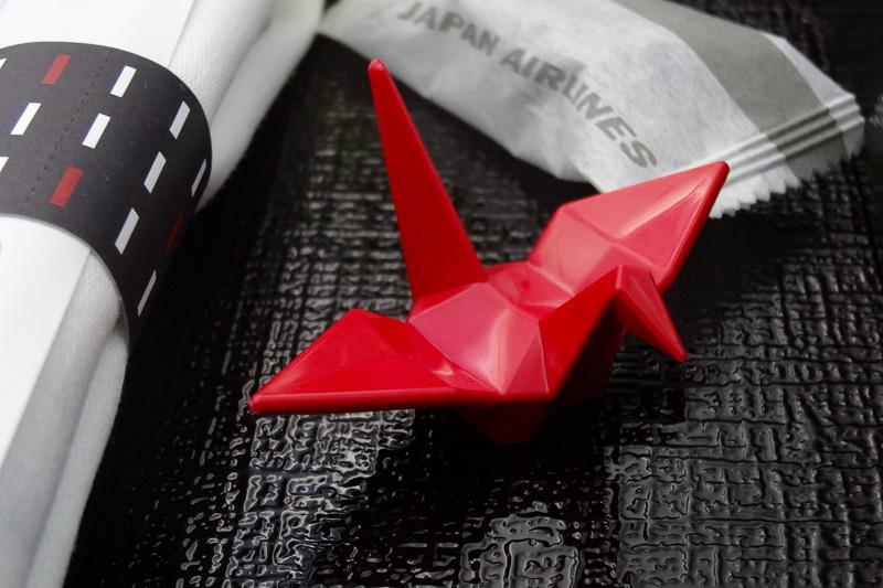 鶴の箸置きもかわいい