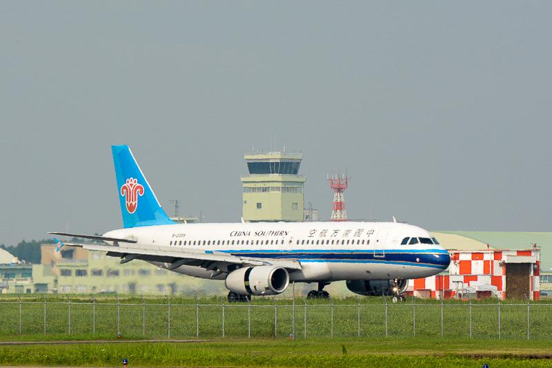 茨城空港に着陸した深センからの第1便