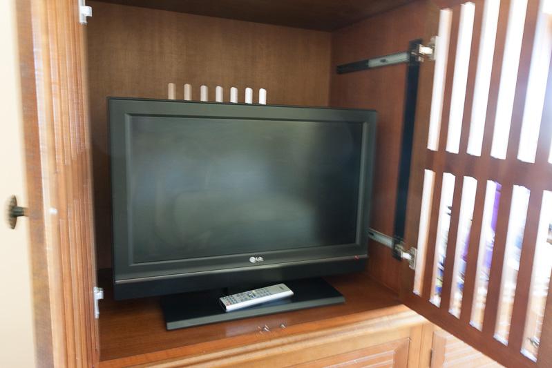 大きめのテレビはあったが、一度も使わなかった