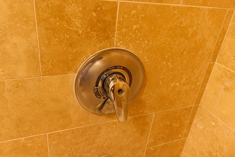 豊かな水量のシャワーでリフレッシュできた