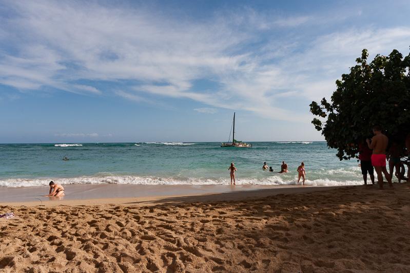 その向かいにあるビーチ。ホテルからは歩いて1分